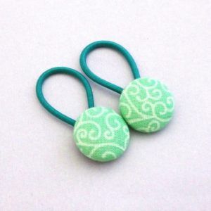19mm Green Swirl Button Elastics