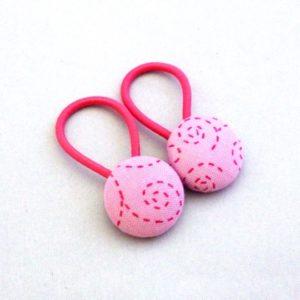 Pink Swirl Hair Button