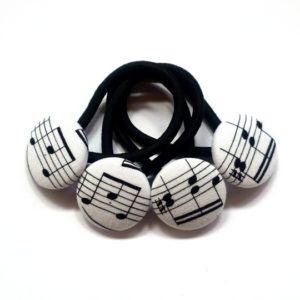 28mm Music Notes Button Elastics