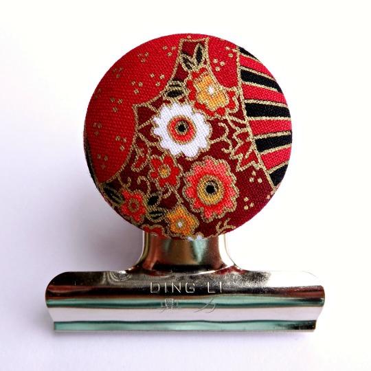 Oriental Fan Magnetic Bulldog Clip