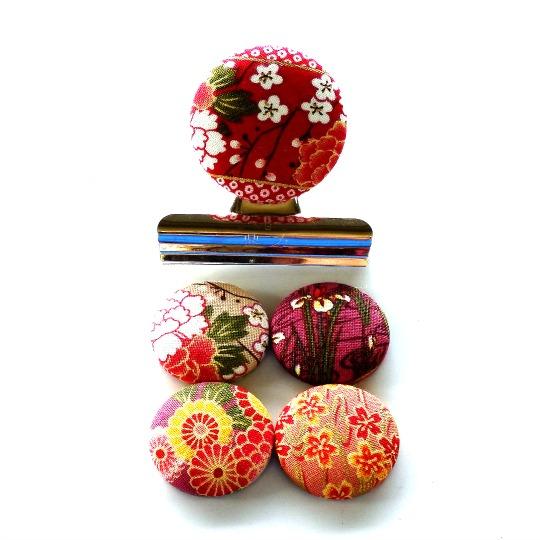 Pink Florals Magnet Set