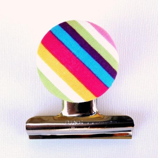Rainbow Stripes Magnetic Bulldog Clip