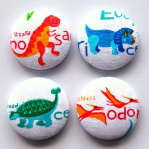 Set of 4 Dinosaur 28mm Magnets