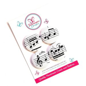 Set of 4 Music Note Magnets