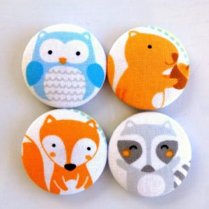 Set of 4 Woodland Creatures Magnets
