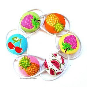 Fruit Salad Button Elastics Set A
