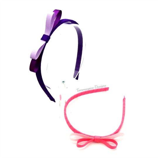 Dual tone ribbon wrapped headband
