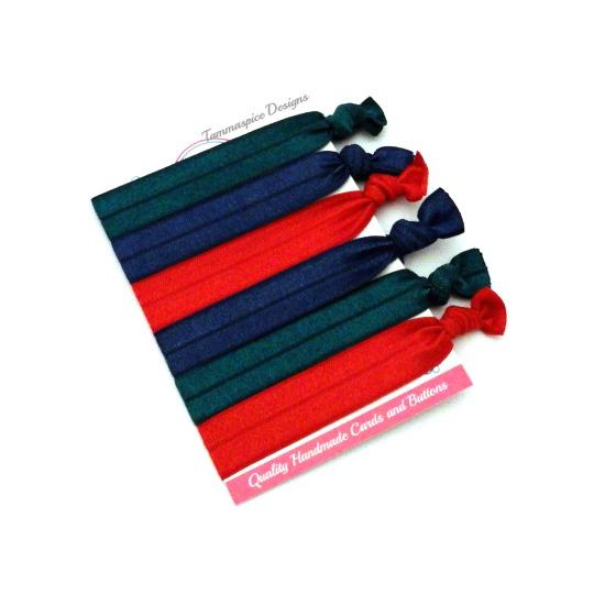 Pack of 6 soft flat FOE elastics