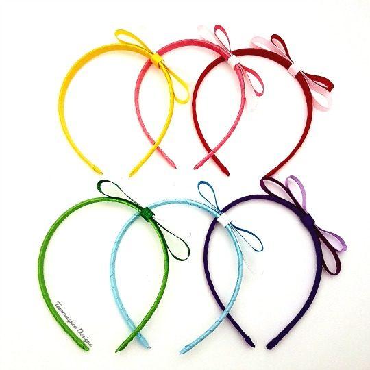 Ribbon wrapped headband