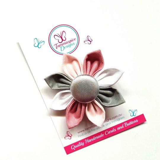 Sugar & Spice Flower Button Clip