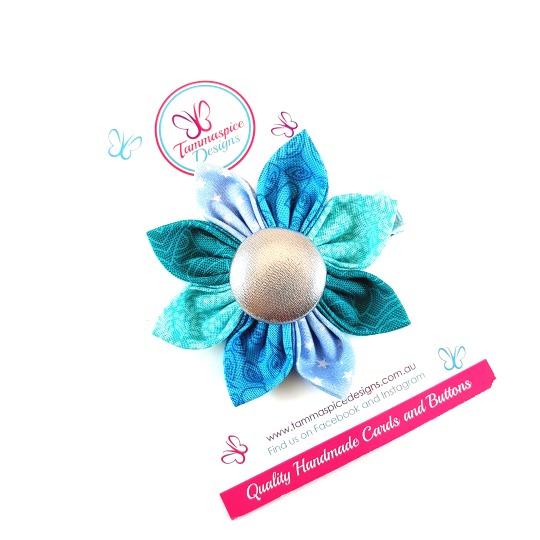 Serenity Flower Button Clip