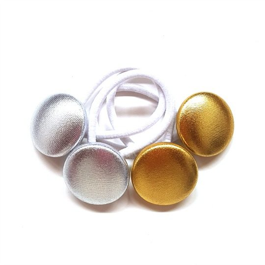 28mm Metallics Button Elastics