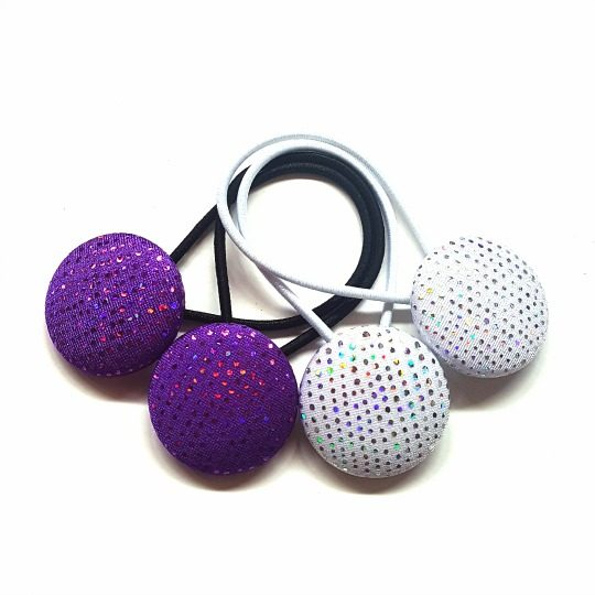 28mm Sparkles Button Elastics