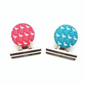 Flamingo Magnetic Bulldog Clips