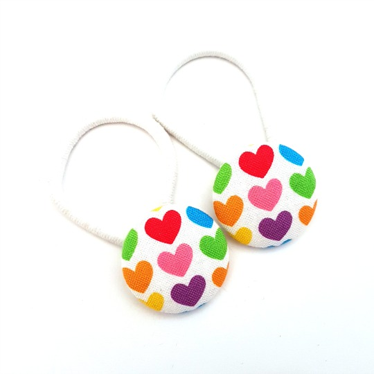 Handful of Hearts 28mm Button Elastics