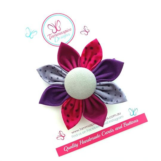 Passion Flower Button Clip