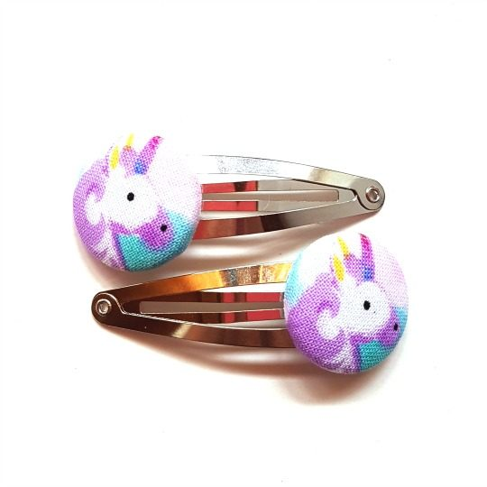 Purple Unicorns Facing Right Snapclips