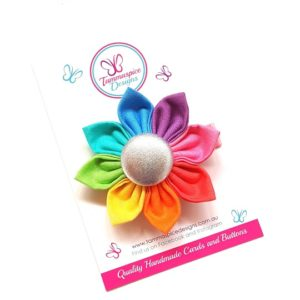 Rainbow Light Flower Clip