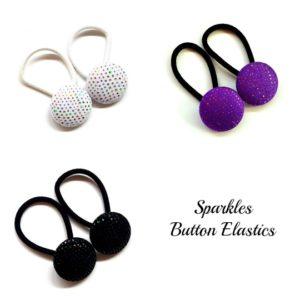 Sparkles 28mm Pairs Button Elastics collage