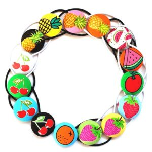 Fruit Salad 28mm Button Elastics