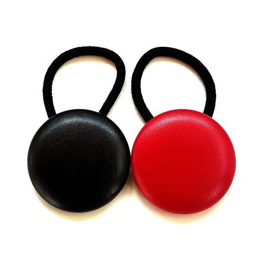 38mm Faux Leatherette Button Elastics