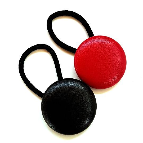 Leatherette Large Button Elastics