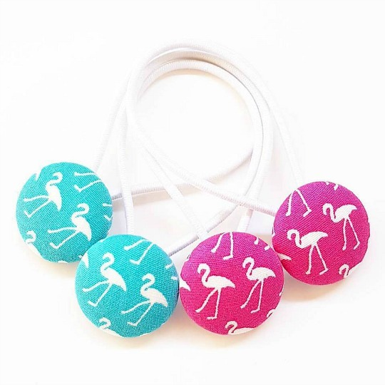 23mm Flamingo Button Elastics
