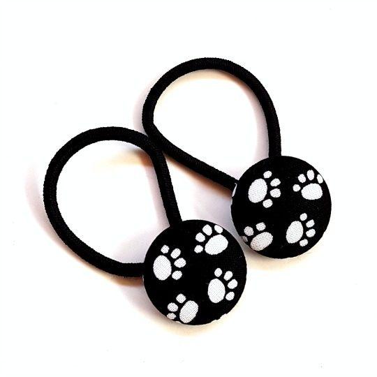 28mm Black Paws Button Elastics