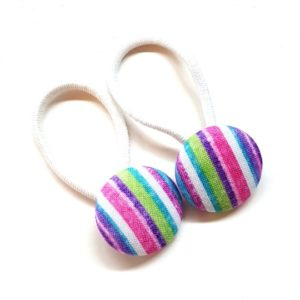 28mm I Love Stripes Button Elastics