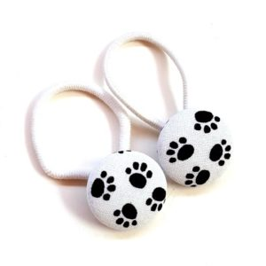 28mm White Paws Button Elastics