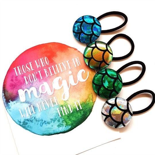 Mermaid Magic Button Elastics