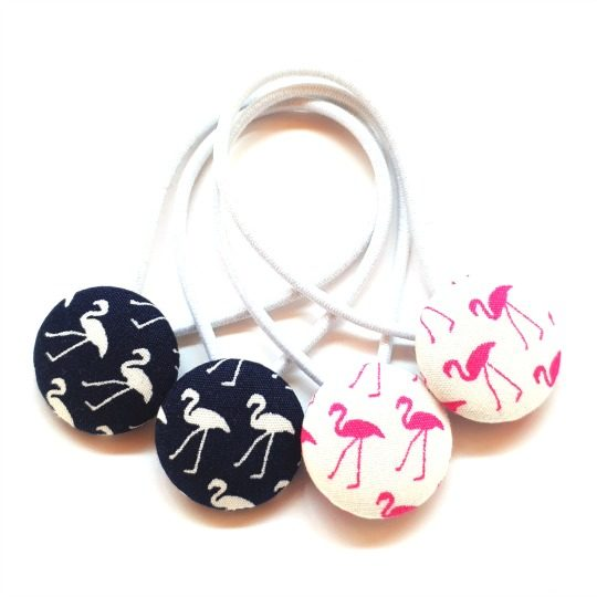 Navy and White Flamingo 23mm Pairs