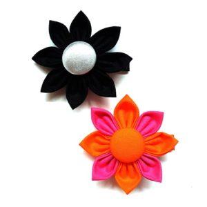 Dual Colours Fabric Flower Clip
