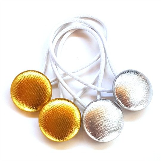 Metallics 23mm Button Elastics