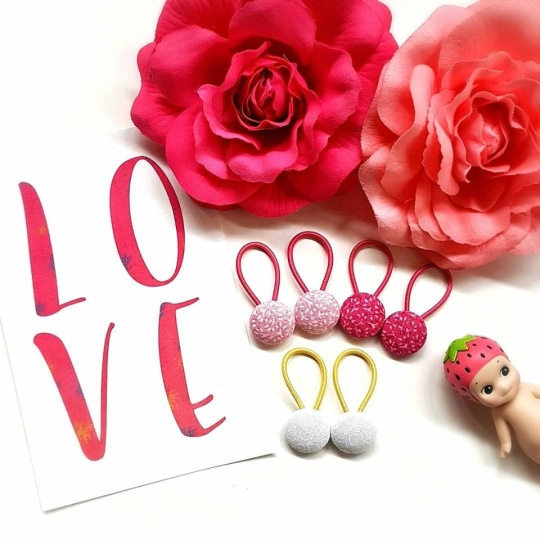 19mm love button elastics