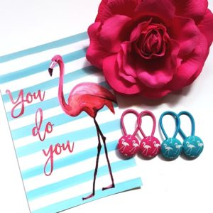 19mm Flamingo Button Elastics