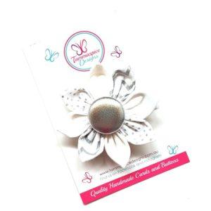 Noelle Silver Flower Clip