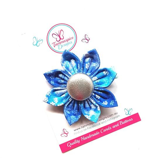 Snowflake Flower Clip