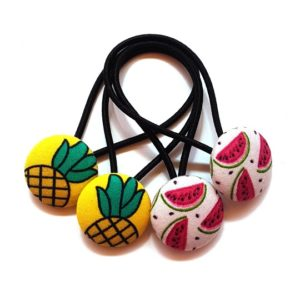 23mm Pineapple and Watermelon Button Elastics