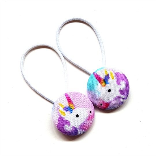 28mm Purple Unicorns (set 1) Button Elastics