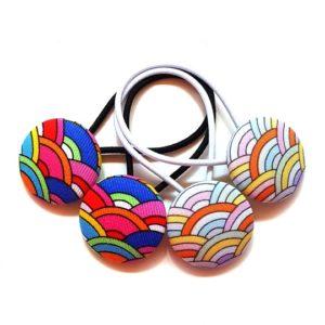 28mm Rainbow Button Elastics