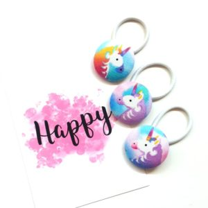 Unicorns Button Elastics