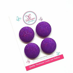 28mm Purple Sparkles Magnet Set