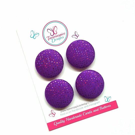 28mm Purple Sparkles Magnet Set