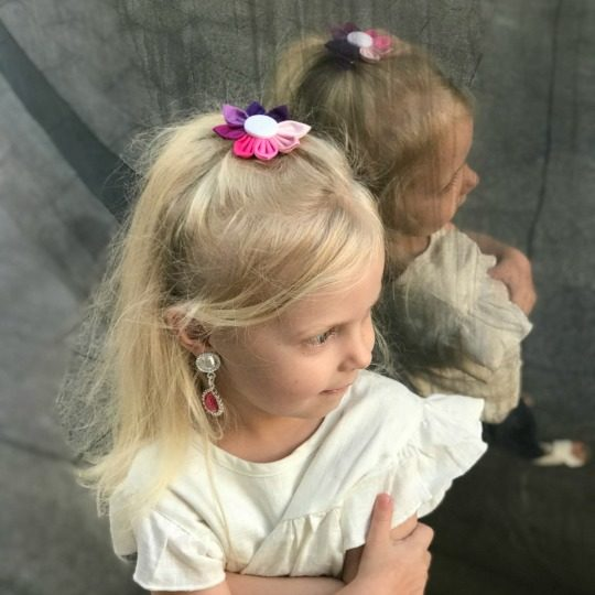 Peyton wearing Beauty Flower Clip