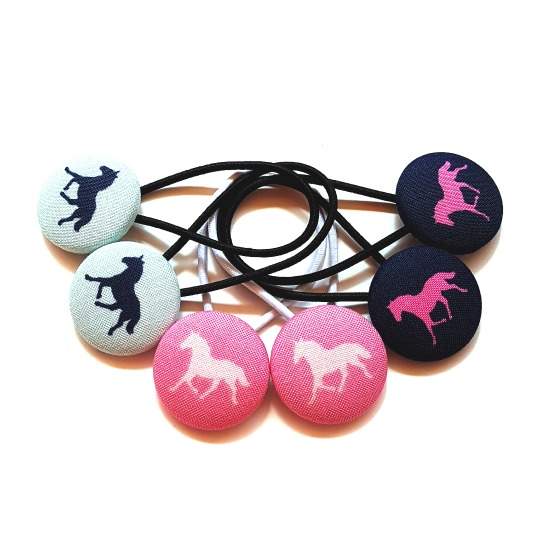 28mm Derby Horses Button Elastics