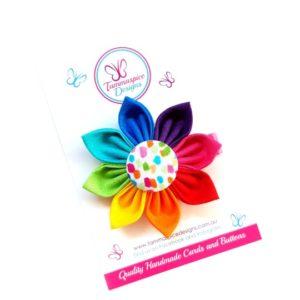 Rainbow Fun Flower Clip