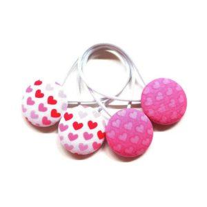 Valentine & Love 28mm Button Elastics
