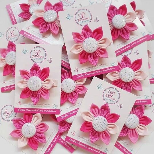 Pretty In Pink Flower Clips