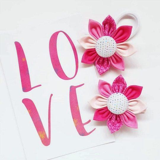 Pretty In Pink Flowers Love Flatlay